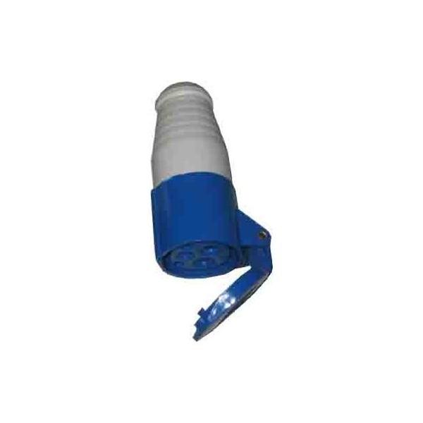 BASE AEREA CETAC 3P (2P+T) 16A 250V IP44 AZUL