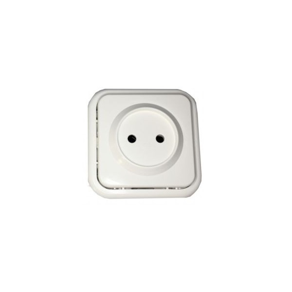 BASE ENCHUFE DE SUPERFICIE 16A BLANCO